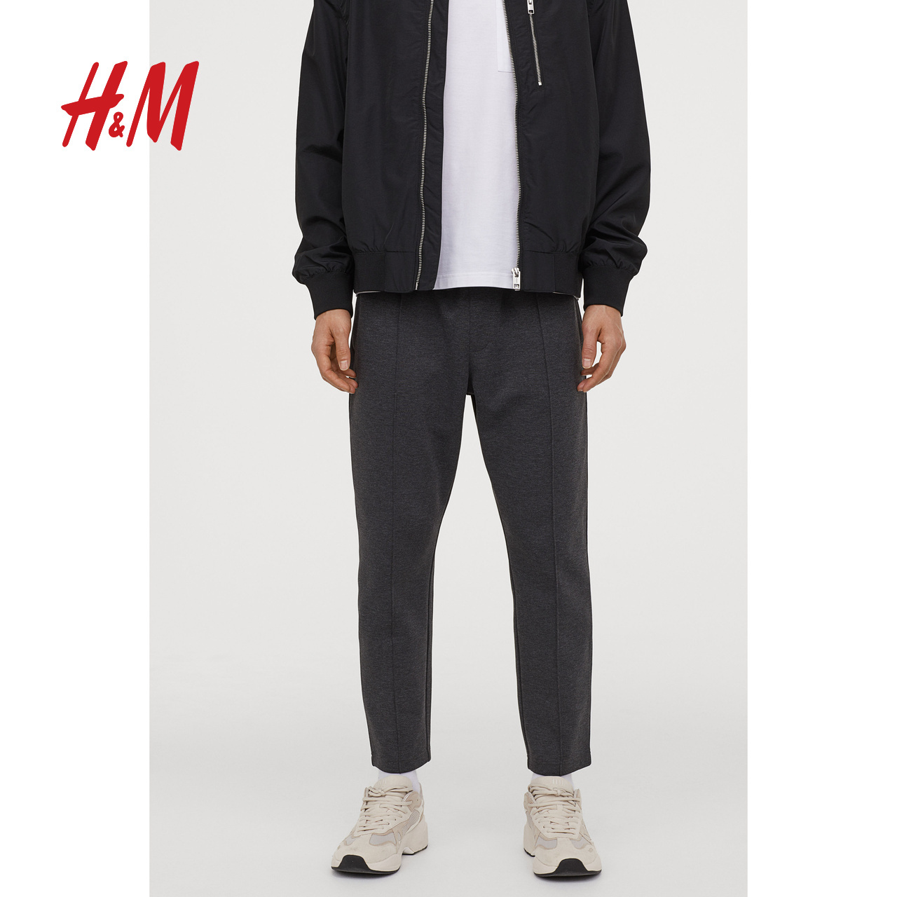 HM men's casual pants fashion men's 2020 new men's spring trend 9-point pants Wei pants 0852379