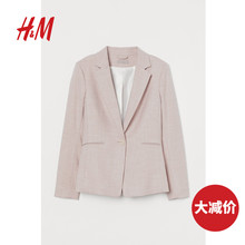 HM women's suit blouse 2020 spring slim fit single-breasted temperament commuter small suit jacket 0823791