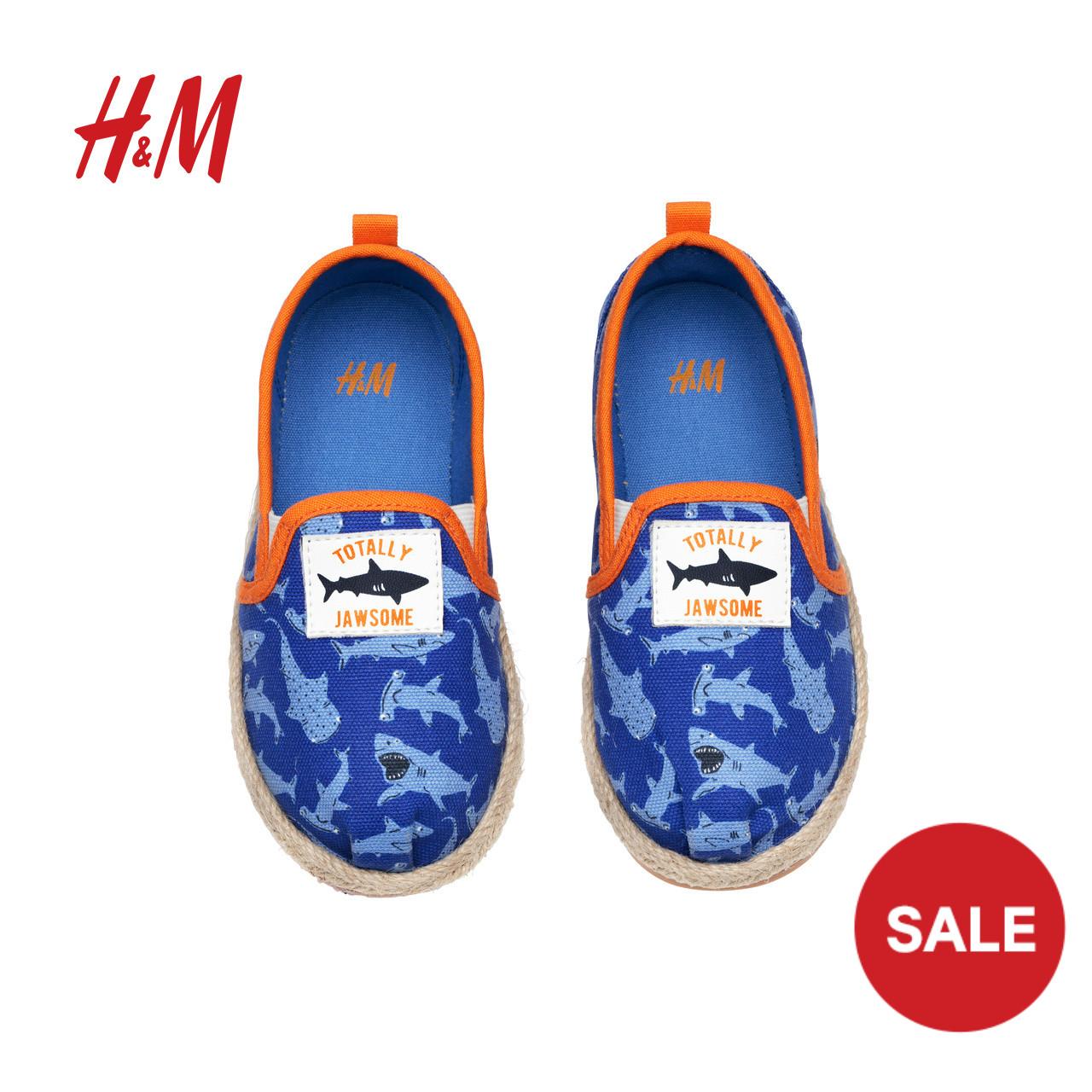 H&M童装2018年新款 麻编底休闲鞋 HM0584043