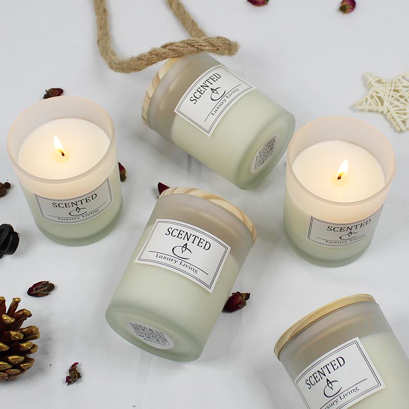精油香薰蜡烛宜家香烛香味蜡烛熏香卧室助睡眠净化空气安神薰衣草