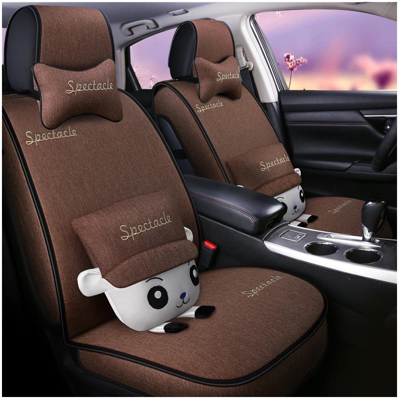 Car seat cover cartoon flax Suzuki Swift 1.3l/1.5l/2014/2015 special full surround cushion