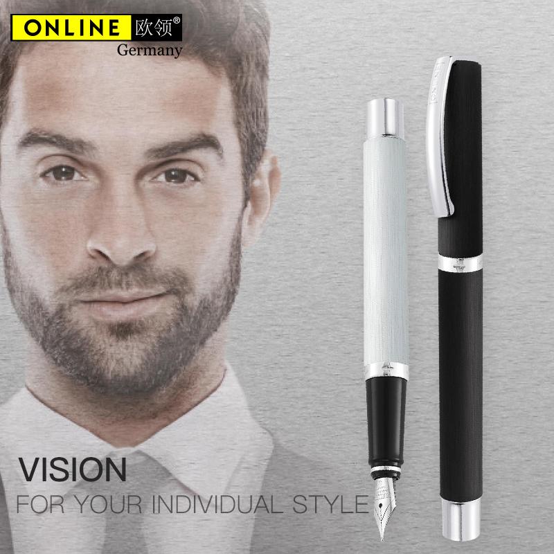 德国ONLINE欧领钢笔成人金属杆vision练字书写男女式送礼礼盒装