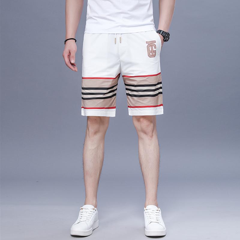 LV н CK plus size summer new mens casual shorts beach pants midpants loose mens Capris fashion
