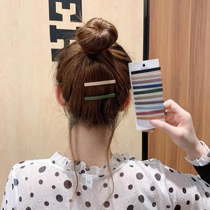 发夹后脑勺头饰头发夹子韩国刘海碎发顶夹简约边夹一字夹少女发卡