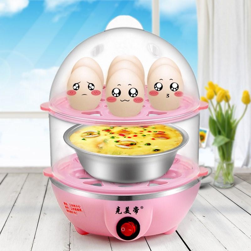 单层多功能蒸蛋器双层自动断电蒸蛋器专用不锈钢小碗蒸煮蛋器配件
