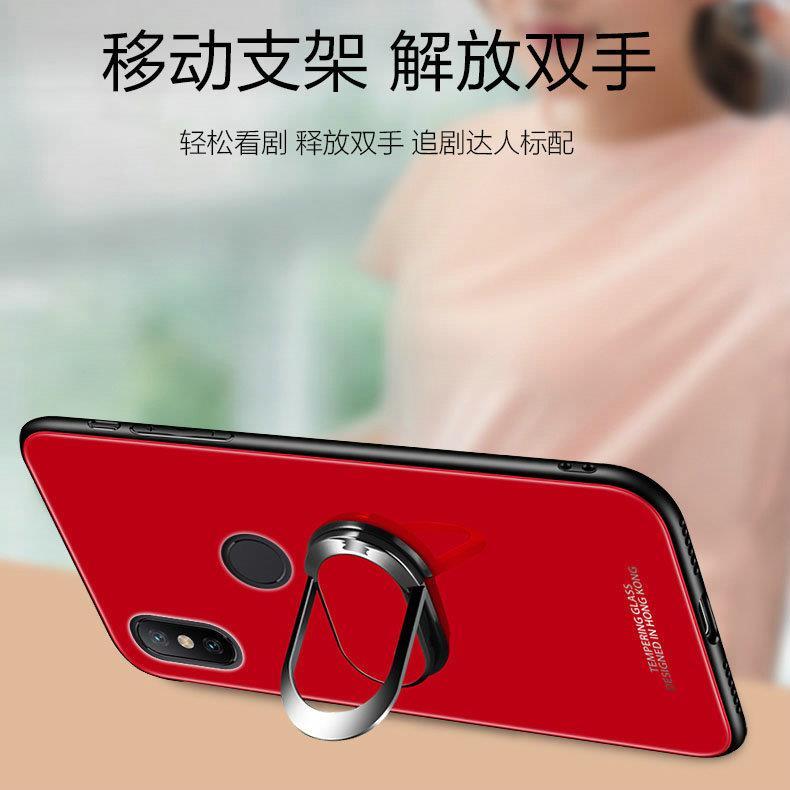5.88寸小米8Se手机壳mi8se钢化膜SE全网通ml8se全包mi8e磁吸指环8