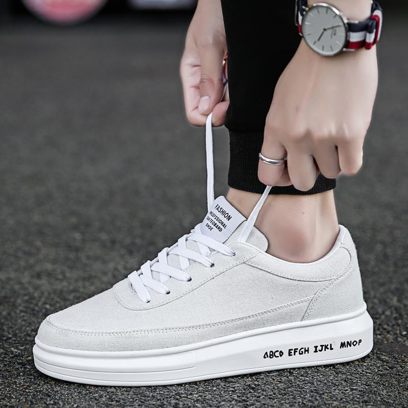 鞋子男潮鞋百搭休闲韩版潮流帆布鞋小白平底男士快手网红同款板鞋