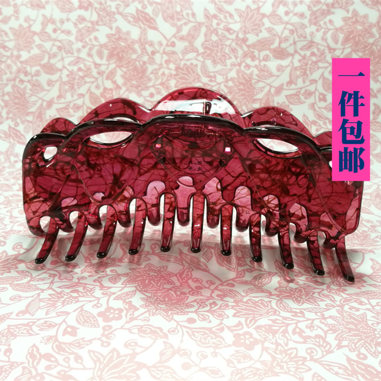 Package as jewelry resin super large shark hair grab drop resistant clip hairpin plate hairpin headdress hair ornament