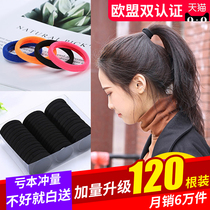 Simple tie hair head rope female rubber band Hair rope headdress black bold hair ring Korean high elastic adult leather Sleeve