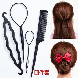 盘发神器扎头发穿发器儿童掏套绑梳编头发百变懒人造型工具拉发针图片