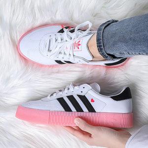 阿迪达斯女鞋2020夏季新款官网正品三叶草低帮小白鞋滑板鞋板鞋