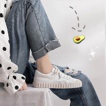 小白鞋女2020新款潮鞋百搭ins街拍运动鞋白鞋平底神仙ulzzang板鞋