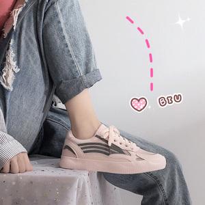 小白运动鞋女2020春款学生韩版夏季透气百搭网红网面ins平底潮鞋