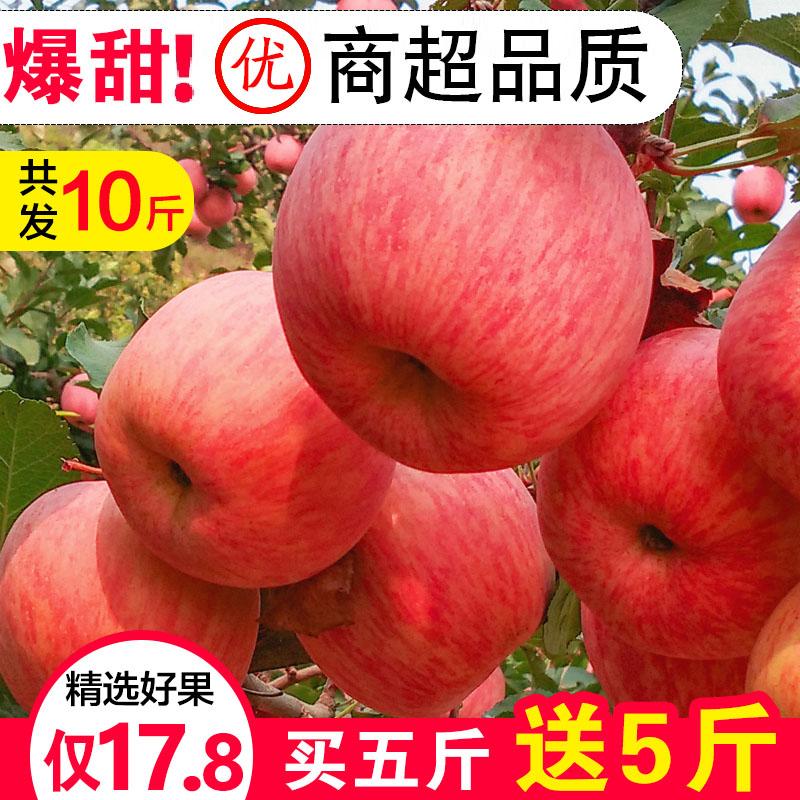高山红富士苹果水果新鲜应季整箱10斤当季脆红冰糖心丑平安果批5