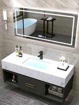 大理石浴室柜組合衛浴智能輕奢現代簡約洗手池洗臉衛生間洗漱臺盆