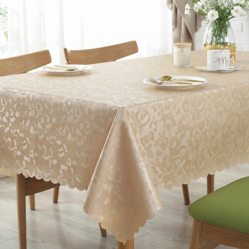 欧式防水防油免洗防烫酒店餐桌布质量好不好