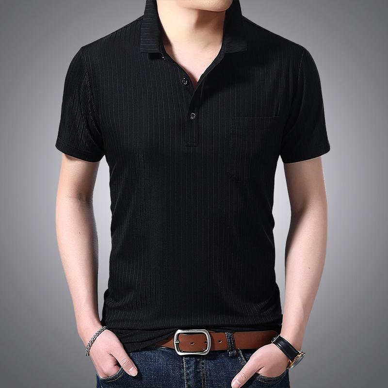 拓敦男士t恤短袖潮流薄款夏天冰丝面料土体桖 男商务时尚气质上衣