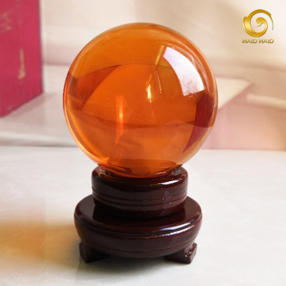 2020 European and Korean famous amber crystal ball ball home decoration accessories small ornaments office desk opening living room technology