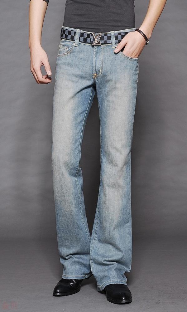 Amazon micro horn mens wear mens jeans Korean fashion casual cowboy horn pants men