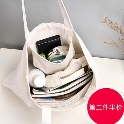 帆布包单肩包女ins文艺大容量手提布袋学生韩版日系百搭简约大包