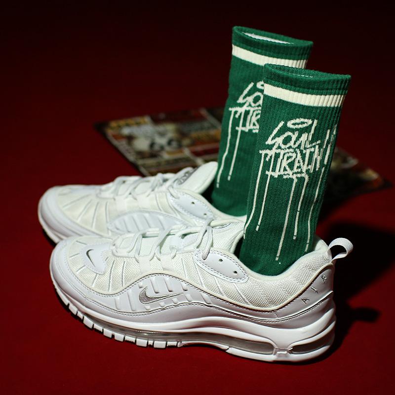 原创设计欧美街头bboy涂鸦油漆字滑板长袜男女潮日系绿色中筒袜子券后7.50元