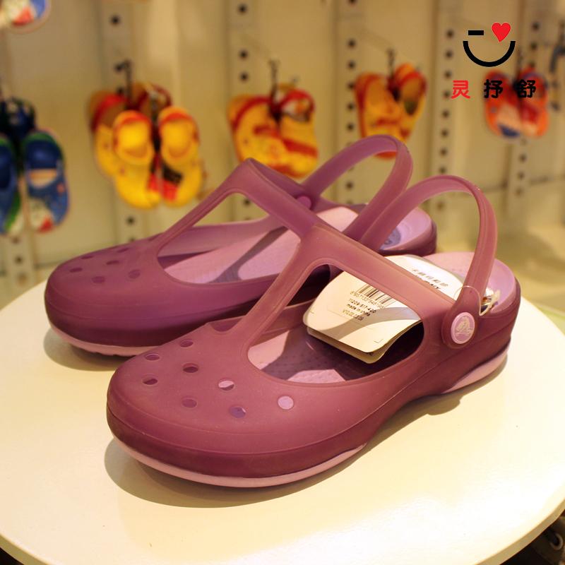 Crocs отверстие обувь обувь женская качественная продукция из специализированного магазина карта корея мэри джейн песчаный пляж обувной скольжение карта река лошуй галоп прохладно шлепанцы 12629