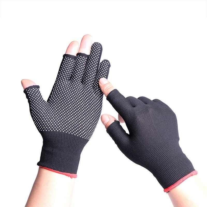 Neville. Summer thin gloves mens Half Finger anti-skid breathable wear-resistant outdoor cycling driving fishing exposed hand