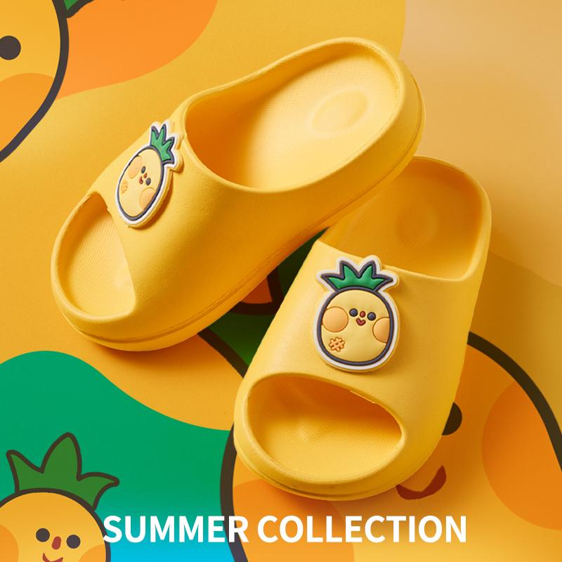 儿童拖鞋夏一体成型防滑无毒轻软底防臭eva拖鞋儿童居家浴室洗澡