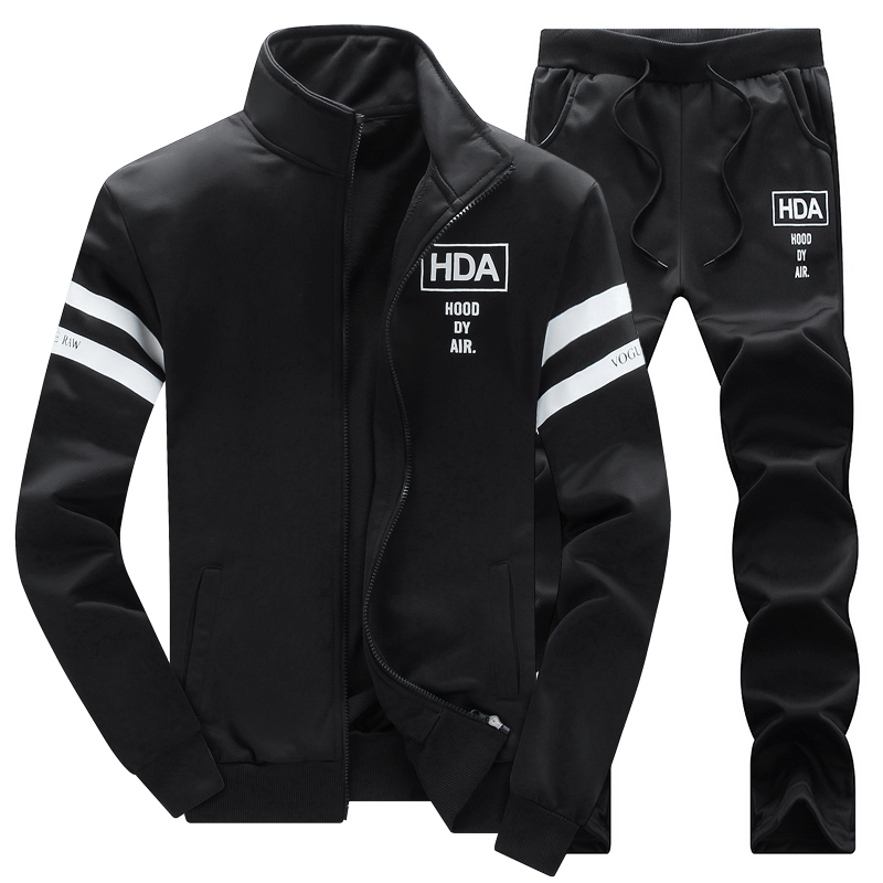 春夏季男士新款休闲套装男运动套装大码卫衣裤子两件套衣服外套潮