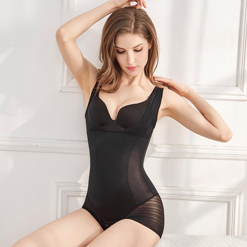 夏季加强版收腹束腰塑形产后瘦身燃脂连体塑身美体内衣超薄无痕女