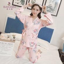 日式和服睡衣女家居服套装公主风