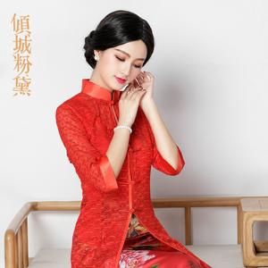 旗袍外搭外套二件套 开衫长款 中国风 旗袍披肩女夏 复古 薄款