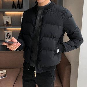领5元券购买棉衣男士外套2018冬季新款短款加厚修身棉服韩版潮流帅气冬装棉袄
