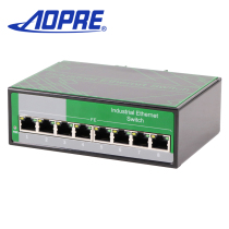 Apore Opel Industrial Grade hundred megabytes 8 port switch security monitoring DIN rails support wide voltage
