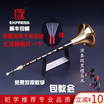 八音唢呐初学者专业乐器全套乌木黑檀D调降B红木喇叭吹服务紫光檀