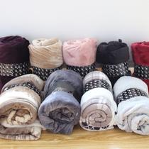 清仓款法兰绒小毛毯冬季单人午睡毯珊瑚绒小毯子沙发休闲多用毯