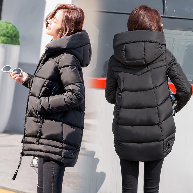 棉服女2018新款中长款棉衣服冬天加厚外套羽绒棉服冬季韩版棉袄