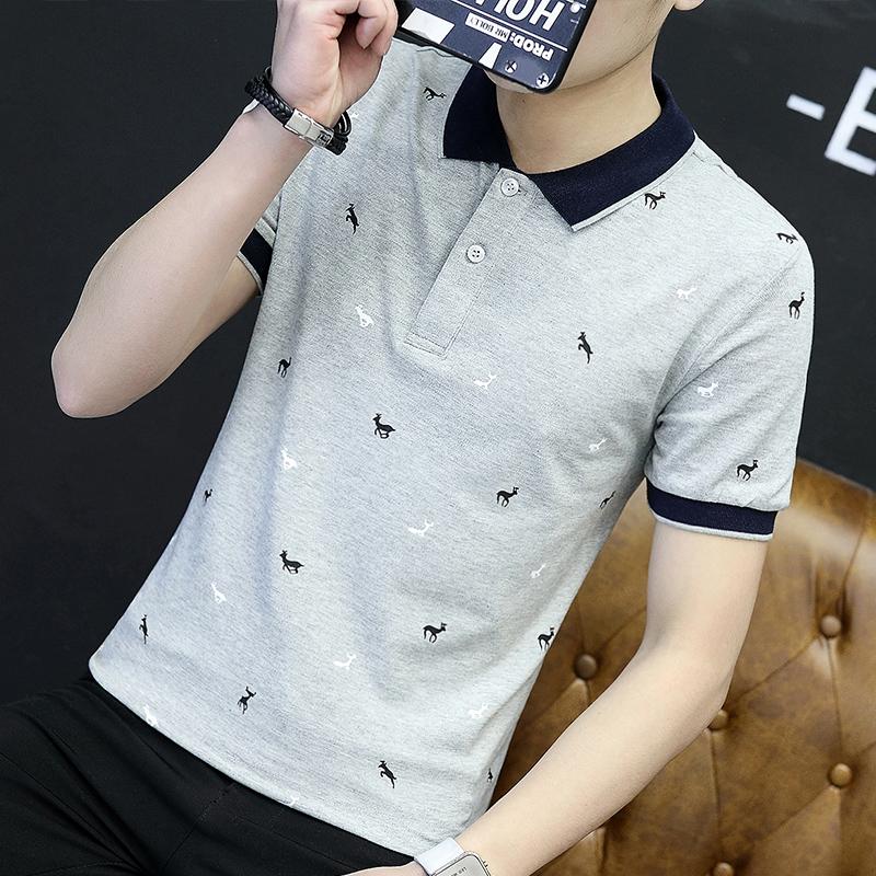Polo衫男夏季新款短袖男士t恤韩版修身夏装青年百搭体恤打底衫T