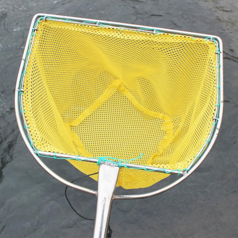 不锈钢平头渔具抄网网兜水产养殖市场超市卖鱼捞鱼抄网头大物大鱼