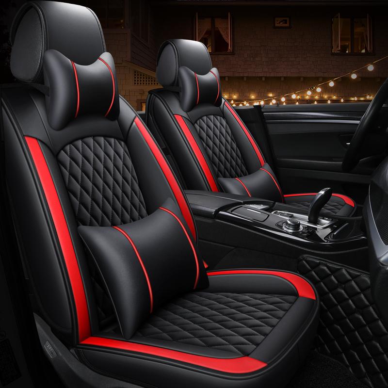 卡通汽车坐垫四季通用全包围座套新款皮革座椅套冬季小车全包座垫