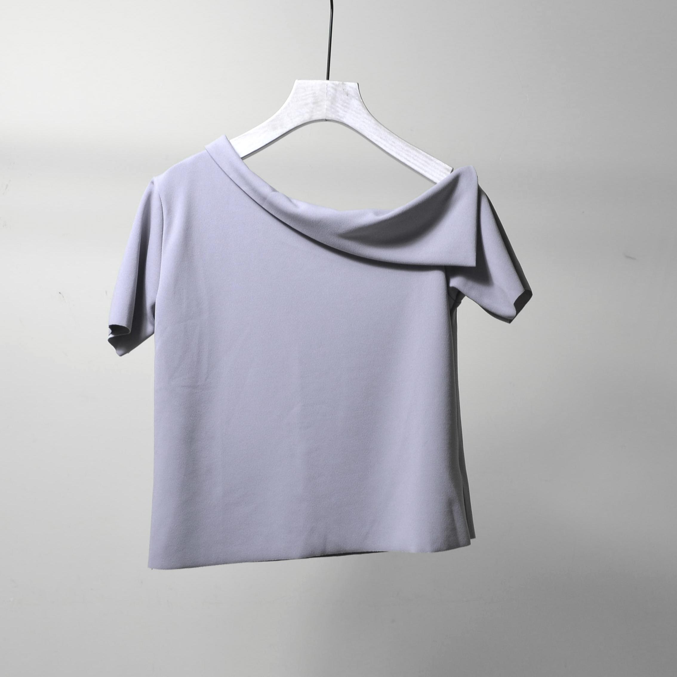 记◆系列商场撤柜专柜品牌折扣店剪标断码正品女装夏季斜肩衬衫