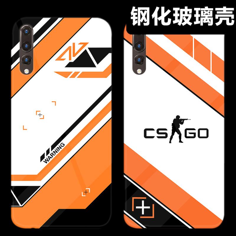 CSGO二西莫夫周边华为p30/p20pro手机壳玻璃p9/10plus荣耀8xmax男