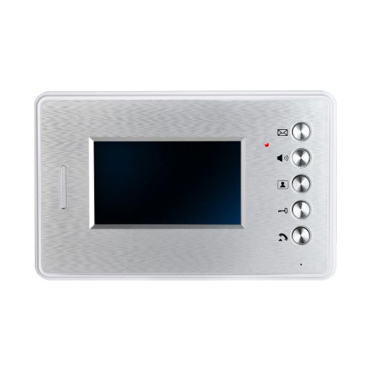 """对讲室内分机彩色4.3""""智能家居系统免提可视遥控楼宇对讲设备"""