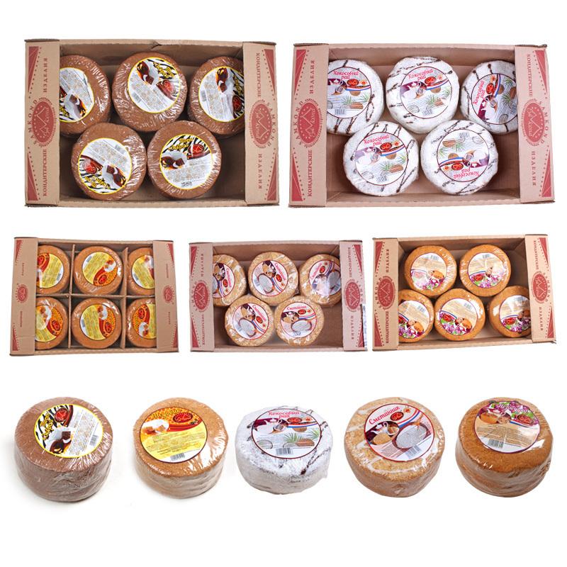俄罗斯进口双山提拉米苏蜂蜜奶油蛋糕西式糕点整箱包邮