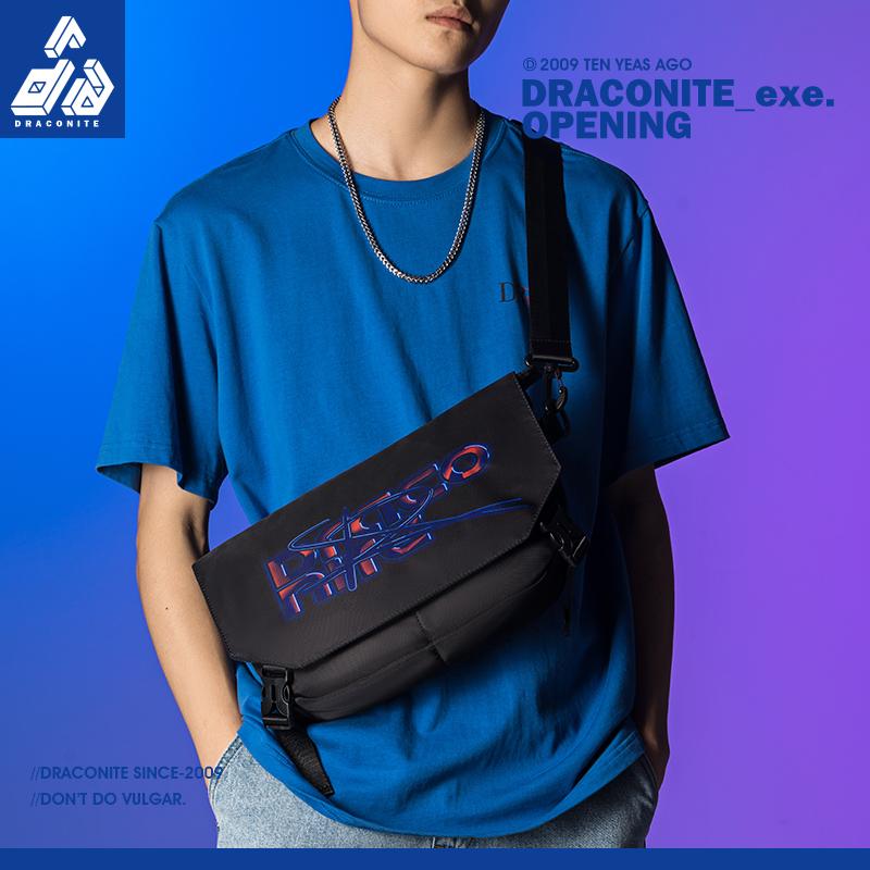 DRACONITE夏季新品时尚潮流胸包单肩胸包休闲运动潮流腰包男12318