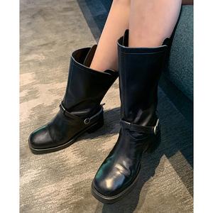 领20元券购买【会员专享款】于momo高端定制骑士靴