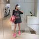 于momo【古董T】复古砂洗印花全棉短袖女2020新款夏季宽松显瘦T恤