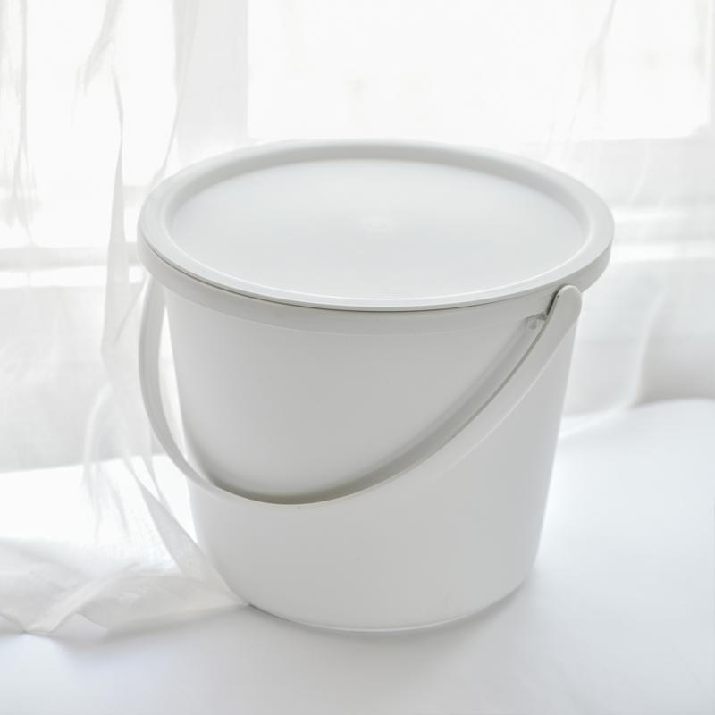 家用塑料水桶带盖洗衣桶手提储水桶圆桶厨房清洁桶加厚圆桶大水桶