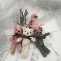 网红韩国许愿兔熊伴手礼结婚礼毛绒小公仔玩偶装饰礼盒男女生礼物