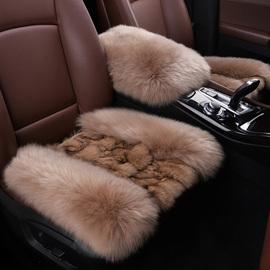 冬季狐狸毛纯羊毛汽车坐垫真新款冬天羊剪绒车用座垫套羊皮毛一体